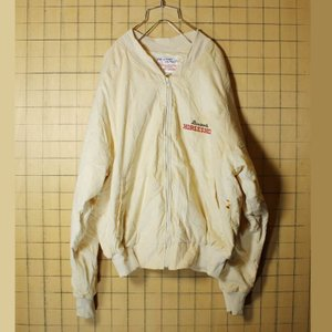 USA製 Binion's HORSESHOE コーデュロイ ジャケット メンズL 刺繍 ベージュ ジップアップ ataco-garage