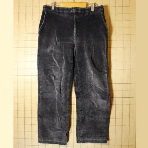 80s 90s EURO ブラック 太畝 コーデュロイ ワイド パンツ W33相当 ヨーロッパ古着|ataco-garage
