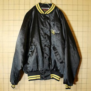 70s 80s USA製 ナイロン ジャケット ブラック 黒 メンズL スタジャン Dunbrooke Pla-Jac 古着|ataco-garage