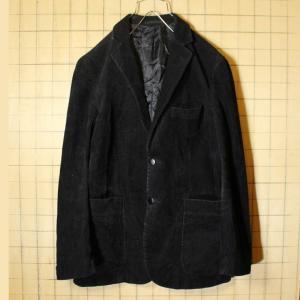 コーデュロイ テーラード ジャケット メンズM相当 ブラック 黒 ヨーロッパ古着|ataco-garage