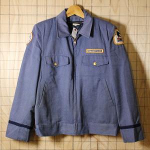USA製古着ブルーU.S.Mail LETTER CARRIERワークジャケット サイズ40 キルティングライナー付き|ataco-garage