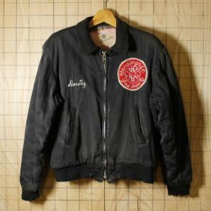 Reidlord Bros 60s-70sUSAビンテージ古着ブラックVandergrift Fire Deptワークジャケット ブルゾン サイズM|ataco-garage