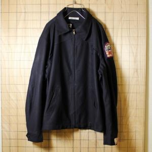 USA製デッドストック古着 ブラック カンパニーワッペン TALONジップアップワークジャケット メンズXL|ataco-garage