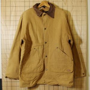Woolrich USA製古着ブラウンダックコットンワークジャケット カバーオール 裏地ウール メンズM|ataco-garage