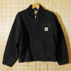 carhartt USA製古着ブラックダック裏地ブランケットワークジャケット ブルゾン メンズM相当|ataco-garage