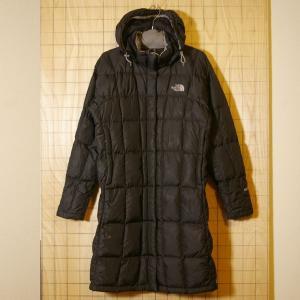 THE NORTH FACE 古着ブラック 黒 フード付き600フィルダウンコート ジャケット レディースM|ataco-garage