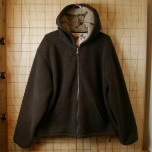 Eddie Bauer 古着ブラウンボアフリースパーカージャケット メンズXLサイズ 大きなサイズ|ataco-garage