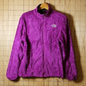 THE NORTH FACE 古着パープル 紫 ボアフリースジップアップジャケット レディースL|ataco-garage