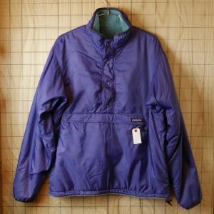 patagonia 92年製USA製古着グリセードナイロン パープル  フリース ライトグリーン リバーシブルプルオーバージャケット メンズMサイズ アウトドア|ataco-garage