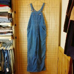 Lee 古着USA アメリカ 製ビンテージ70sブルー 青 レディースサイズコーデュロイオーバーオールリー|ataco-garage