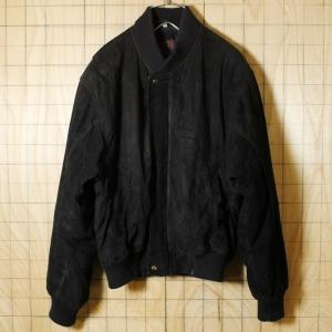 PELLE MODA イタリア製ヨーロッパ古着 ブラック スウェードレザージャケット メンズM相当|ataco-garage