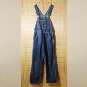 OSHKOSH USA製80s古着 ブルー デニムオーバーオール W28L34 pan18|ataco-garage