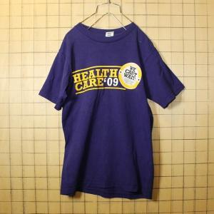 古着 プリント Tシャツ USA製 パープル プリント 半袖 メンズS Union Line pan284|ataco-garage