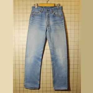 USA製 古着 Levis リーバイス 501xx ダメージ ジーンズ デニム パンツ ブルー W30 pan305|ataco-garage