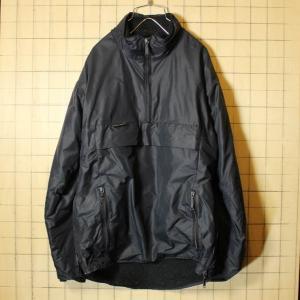 イングランド製 ナイロン ボア パーカー PERTEX ジャケット プルオーバー メンズS ブラック Remploy ltd フード 古着 ataco-garage