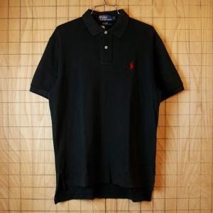 Polo 古着ブラック 黒 メンズ半袖ポロシャツ メンズSサイズポロ ラルフローレン|ataco-garage