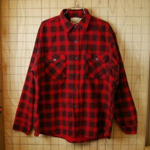 Sears Field Master 古着レッド 赤 ×ワインレッド エンジ チェックシャツ sy-l-197 サイズXL ataco-garage