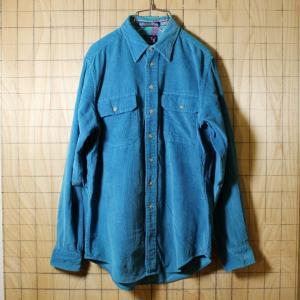 WOOLRICHウールリッチ 80s古着 ブルーコーデュロイシャツ メンズM|ataco-garage