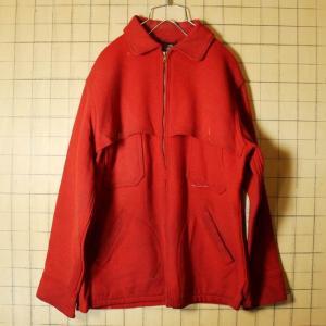 50s USA製 Woolrich ウール ハンティングジャケット レッド メンズM相当 シューティング ダブルマッキーノ ダメージ ウールリッチ 古着|ataco-garage