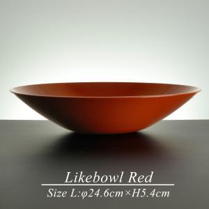 和食器 大鉢 ボウル サラダボウル 鉢 おしゃれ 赤 朱 モダン 日本製 漆器 ライクボウル RED L|atakaya