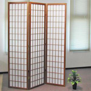和風衝立3連 小粋でおしゃれな和風モダン目隠しスクリーン 高さ180 ブラウン|atarashi