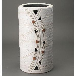 傘立て おしゃれ 和風モダン インテリア 陶器 信楽焼かさたて トライアングルS atarashi