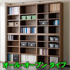 壁面収納 オール・オープン型 6点セット 幅2243 リビングシェルフ 完成品 フナモコ atarashi