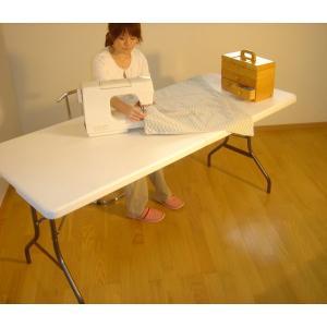 大型折りたたみ式テーブル 183×75 持ち運びできる|atarashi|05