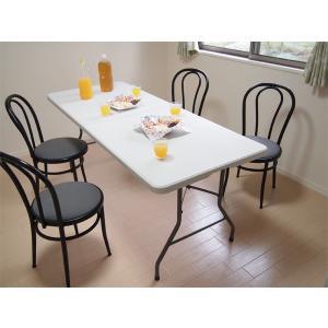 大型折りたたみ式テーブル 183×75 持ち運びできる|atarashi|06