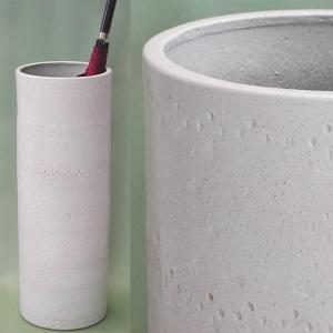 傘立て おしゃれ 和モダン インテリア 陶器 信楽焼 スリムロング 白たたき ホワイト atarashi
