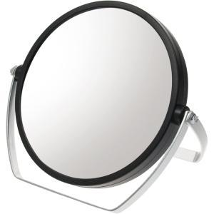 ヤマムラ 10倍拡大鏡付き 両面スタンドミラー ブラック YL-1500 atbijin