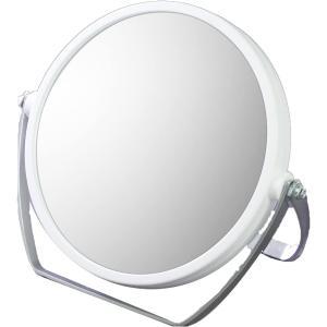 ヤマムラ 10倍拡大鏡付き 両面スタンドミラー ホワイト YL-1500 atbijin