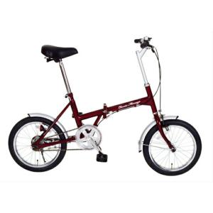 Classic Mimugo / クラッシック ミムゴ FDB16 16インチ 折畳み自転車 クラシックレッド メーカー直送 ※代引・日時指定不可 北海道・沖縄・離島配送不可|atcare