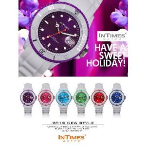 IN TIMES インタイムス 腕時計 ホワイト シリコンバンド ダイバー メンズ レディースシチズン製ムーブ|atdigiplus