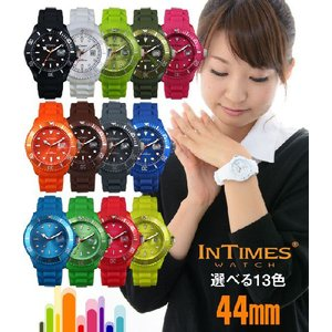 IN TIMES インタイムス 腕時計 迫力の44mm シリコン ダイバー メンズ サイズ選べる13色 シチズン製ムーブ|atdigiplus
