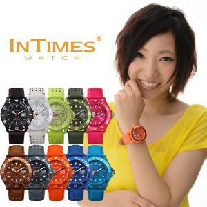 IN TIMES インタイムス 腕時計 44mm PUレザー ダイバー メンズ レディース 男女兼用 サイズ選べる10色 シチズン製ムーブ|atdigiplus