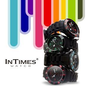 IN TIMES インタイムス 腕時計 迫力の44mm シリコンバンド ダイバー メンズ レディースシチズン製ムーブ|atdigiplus