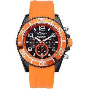 INTIMES インタイムス 44mm クロノグラフ メンズ 腕時計|atdigiplus