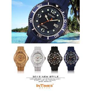IN TIMES インタイムス 腕時計 NAUTIC 48mm XLサイズ シリコンバンド ダイバー メンズ レディースシチズン製ムーブ|atdigiplus