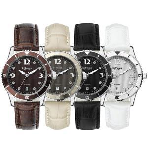 IN TIMES インタイムス 腕時計 小ぶりでかわいい36mmケース レザー ベルト キラキラ輝くスワロフスキー8石 レディース選べる4色 シチズン製ムーブ|atdigiplus