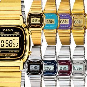 腕時計 CASIO カシオ チープカシオ チプカシ アンティーク レトロ ゴールド シルバー レディース LA670 LA670WGA LA670WA 3ヵ月保証 ポスト投函|atdigiplus