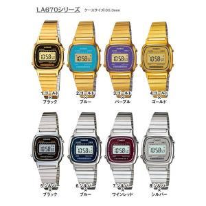 腕時計 CASIO カシオ チープカシオ チプカシ アンティーク レトロ ゴールド シルバー レディース LA670 LA670WGA LA670WA 3ヵ月保証 ポスト投函|atdigiplus|02