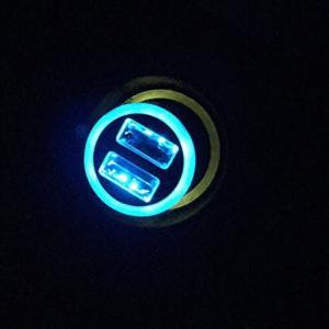 シガーソケット USB 2ポート スマホを2台同時に高速充電 4.8A 12V 24V対応 カーチャージャー iPhone スマホ 車 充電器 光る2ポート|atdigiplus|02