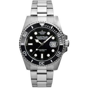200m防水 Seventh Wonder ダイバー ズウォッチ 日付表示 200m防水 逆回転防止ベゼル 腕時計 メンズ ダイバー|atdigiplus
