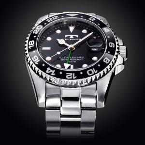 テクノス 腕時計 メンズ 限定モデル 防水 逆回転防止 ベゼル ダイバー GMT