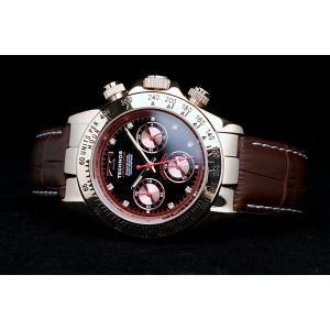 テクノス 腕時計 メンズ TECHNOS 限定モデル   選べる3タイプ スイスの名門 本革ベルト ピンクゴールド クロノグラフ リ メンズ T4161|atdigiplus|02