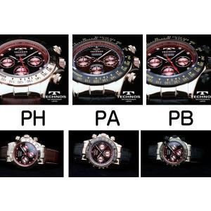 テクノス 腕時計 メンズ TECHNOS 限定モデル   選べる3タイプ スイスの名門 本革ベルト ピンクゴールド クロノグラフ リ メンズ T4161|atdigiplus|03