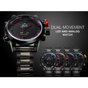 大人の遊び心 存在感バツグン インパクト大 デカ厚 デザインウォッチ  ブランド!メンズ デジタル アナログ LED 腕時計|atdigiplus