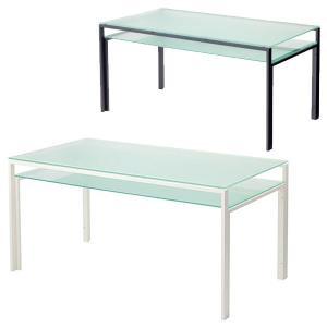 ダイニングテーブル ガラス製 DT-ダイニングテーブル W1500タイプ(天板フロスト・棚板フロスト)|atease