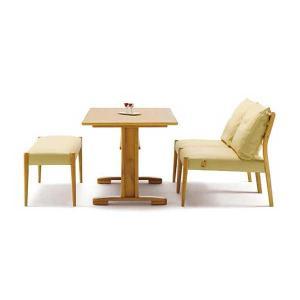 LD4点セット(アームなし) ボスコプラス Krone (LDテーブル + LDチェア×2 + ベンチ)|atease